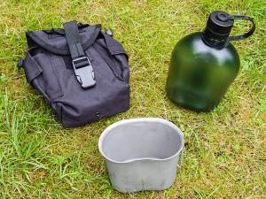 Trinkflasche Nalgene, Feldflaschenbecher, Feldflaschentasche Molle