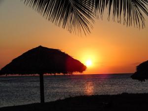 Kuba Rundreise - Playa Rancho Luna Sonnenuntergang