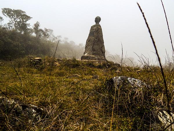 Sierra Maestra - Statue des Nationalhelden José Martí auf dem Gipfel des Pico Turquíno