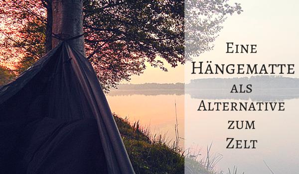 Eine Hängematte als Alternative zum Zelt