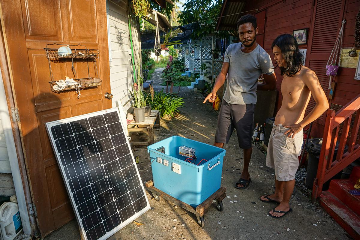 Malaysia, Cherating, Solaranlage