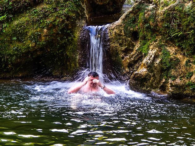 Low Budget Kuba Rundreise Las Terrazas - Tobi y la piscina naturales