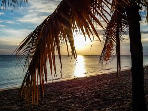 Kuba Rundreise - Trinidad Playa Ancon Sonnenuntergang