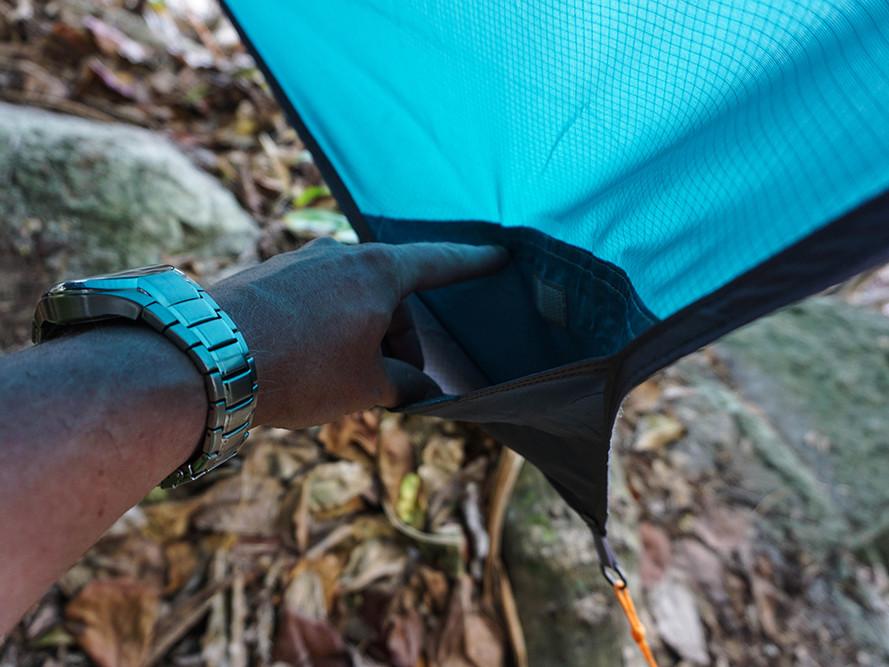 """Moskito-Traveller EXTREME - Tarp """"Jungle Tent PRO"""" Eckpunkte mit Tasche für Abspannleinen"""