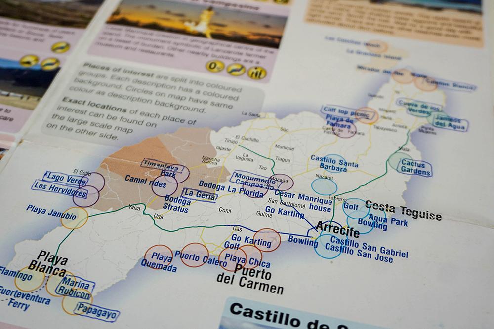 Lanzarote - Landkarte